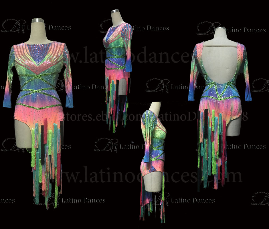 LATINO DANCE DRESS COMPETITION WITH HIGH QUALITY STONE M492