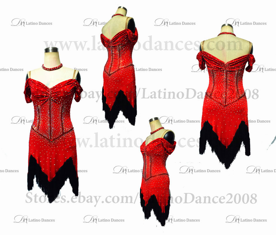 LATINO DANCE DRESS COMPETITION WITH HIGH QUALITY STONE M494