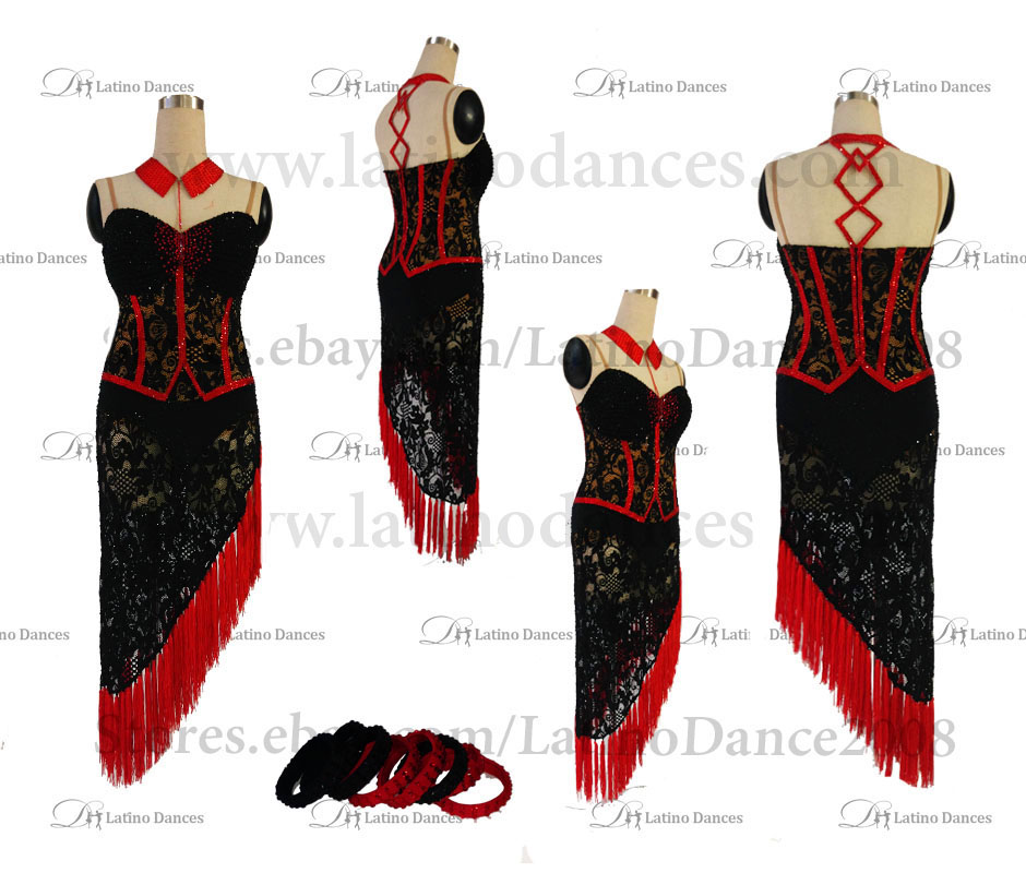 LATINO DANCE DRESS COMPETITION WITH HIGH QUALITY STONE M496