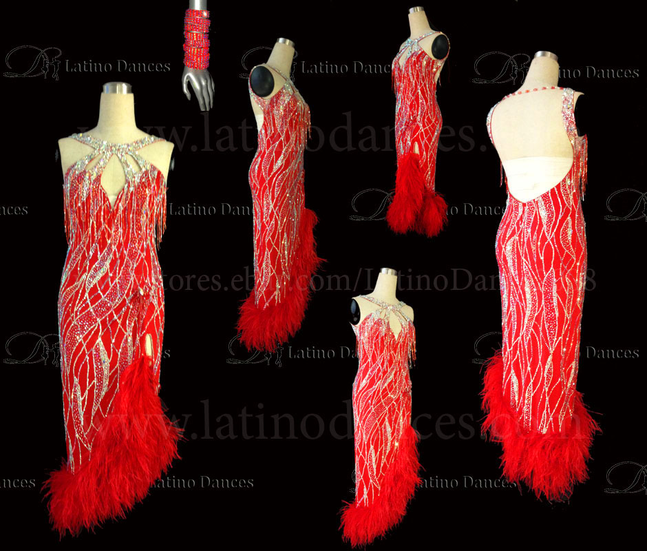 LATINO DANCE DRESS COMPETITION WITH HIGH QUALITY STONE M497