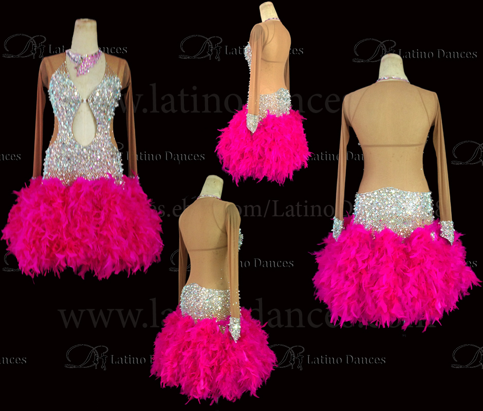 LATINO DANCE DRESS COMPETITION WITH HIGH QUALITY STONE M498