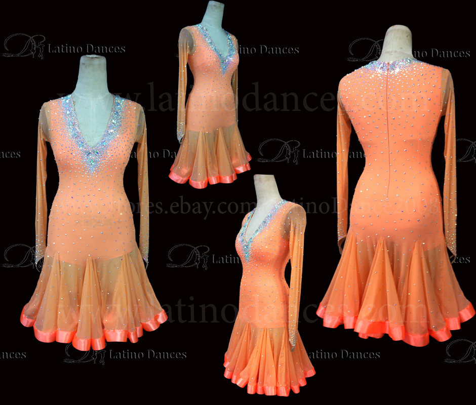 LATINO DANCE DRESS COMPETITION WITH HIGH QUALITY STONE M500