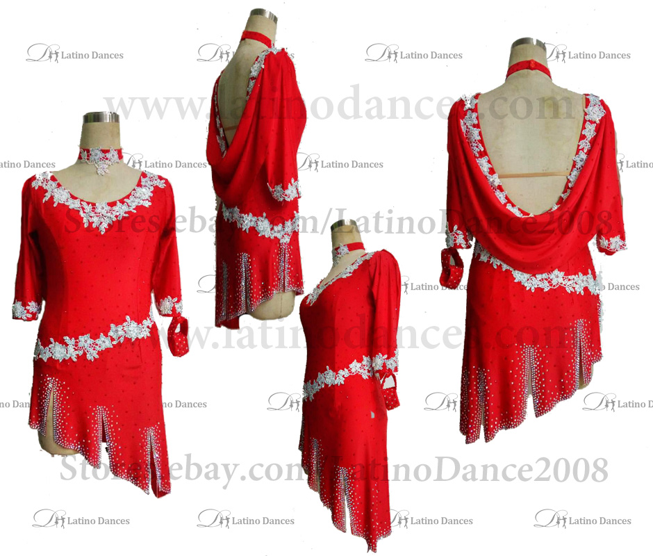 LATINO DANCE DRESS COMPETITION WITH HIGH QUALITY STONE M501