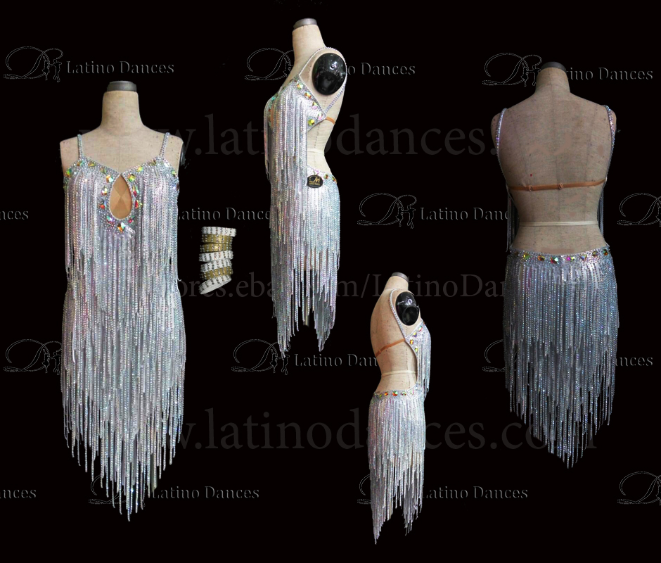 LATINO DANCE DRESS COMPETITION WITH HIGH QUALITY STONE M502