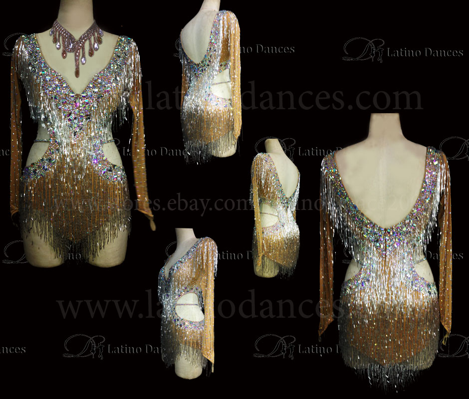 Latin Paso Dance Tailored Dress With High Quality stones M505