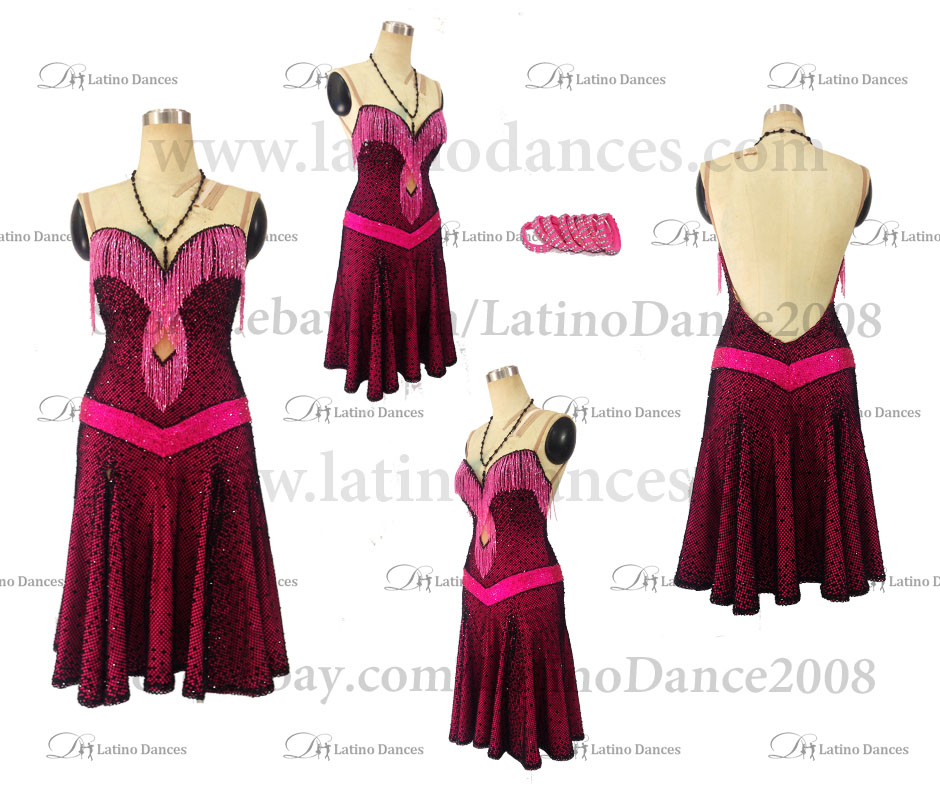 Latin Paso Dance Tailored Dress With High Quality stones M506
