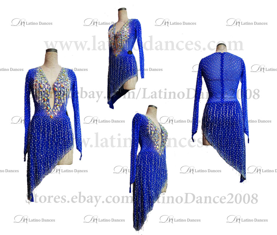 Latin  Dance Tailored Dress With High Quality stones M507