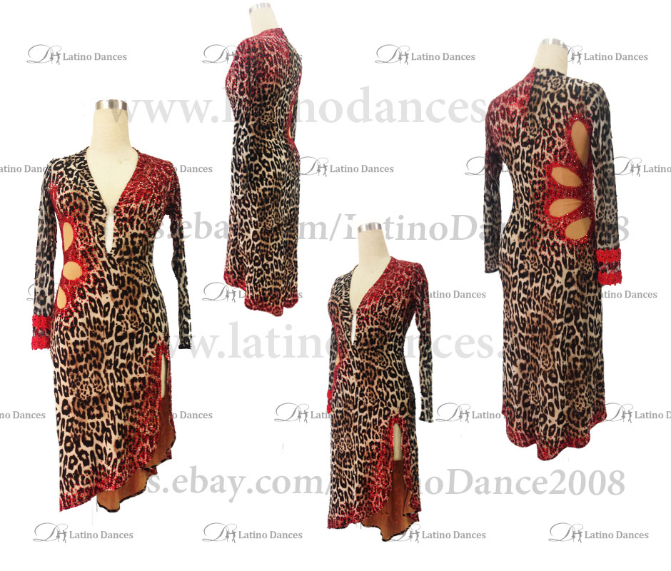 Latin  Dance Tailored Dress With High Quality stones M508
