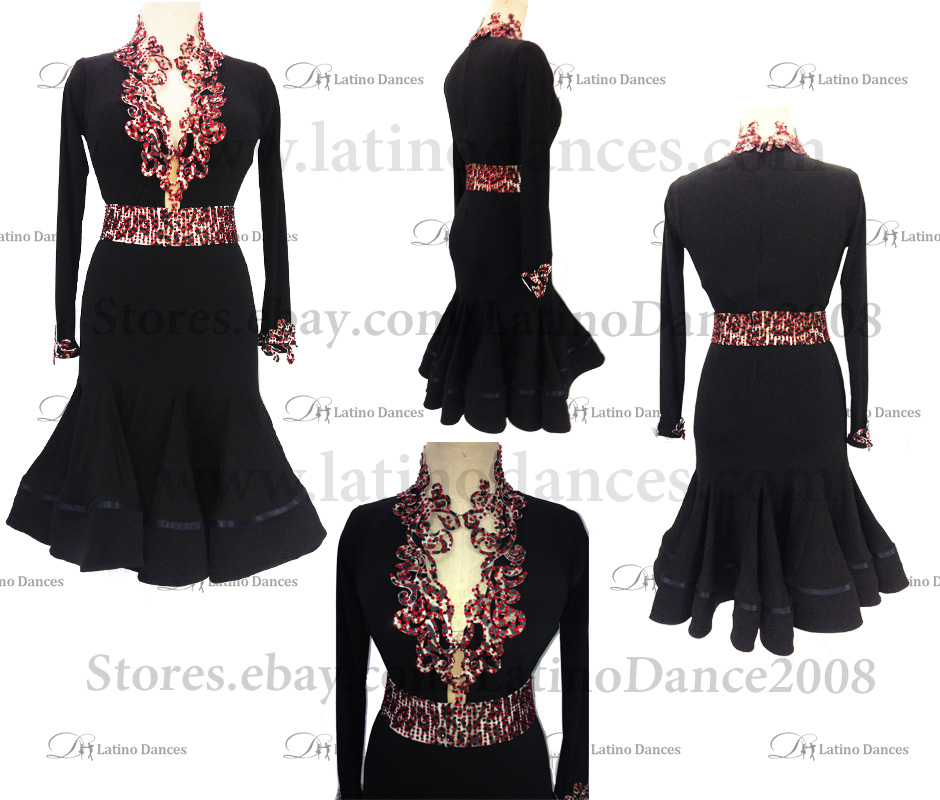 Latin  Dance Tailored Dress With High Quality stones M512