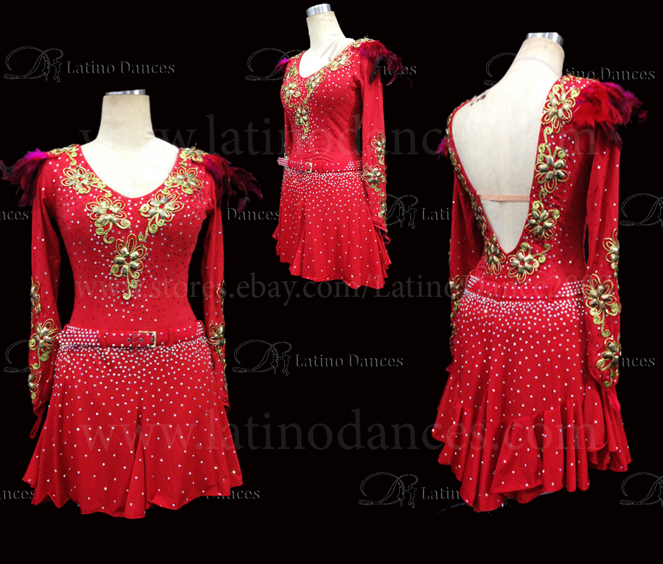 Latin  Dance Tailored Dress With High Quality stones M516