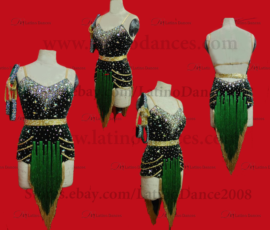 Latin  Dance Tailored Dress With High Quality stones M523