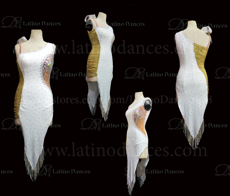 Latin  Dance Tailored Dress With High Quality stones M524