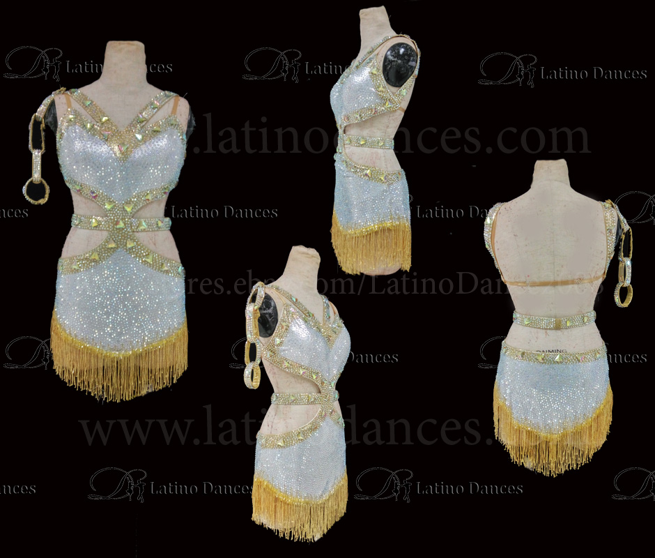 Latin  Dance Tailored Dress With High Quality stones M525
