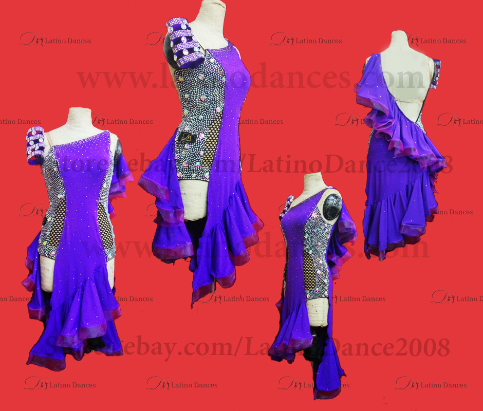 Latin  Dance Tailored Dress With High Quality stones M528
