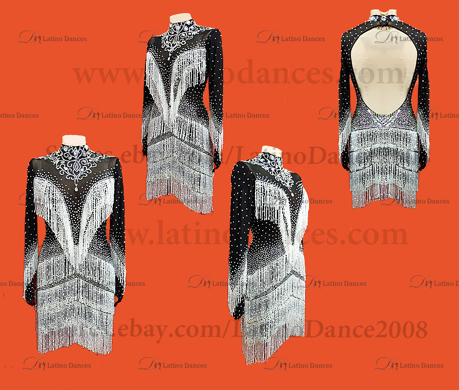 Latin  Dance Tailored Dress With High Quality stones M529B