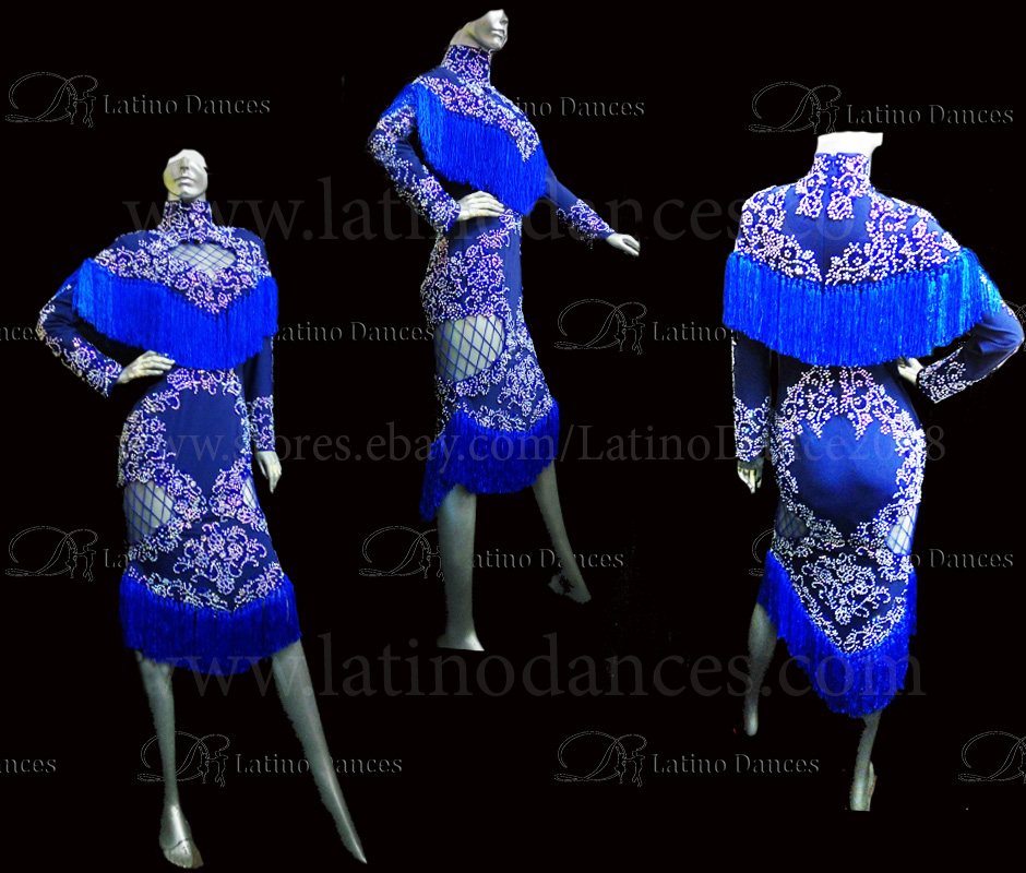 Latin  Dance Tailored Dress With High Quality stones M530