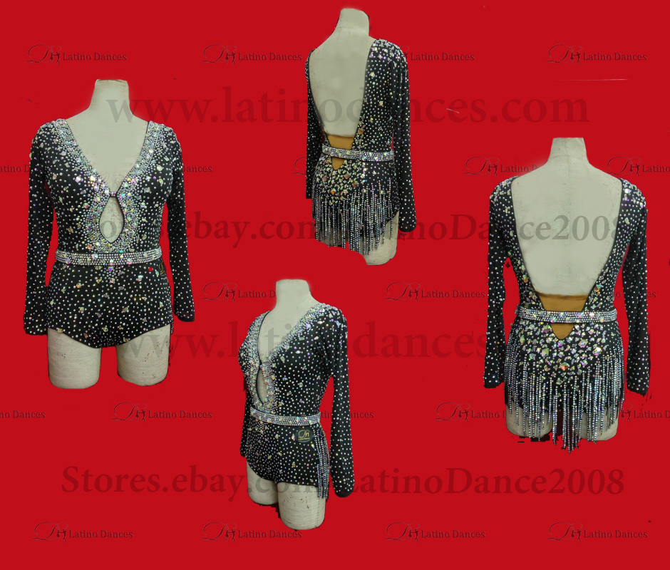 Latin  Dance Tailored Dress With High Quality stones M532