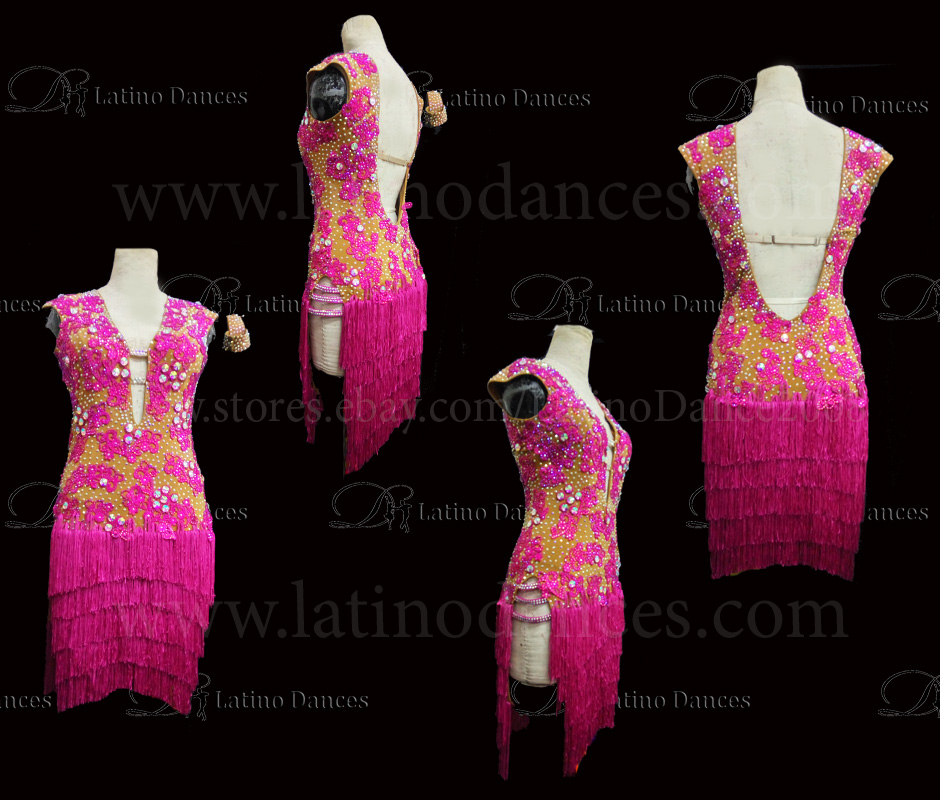Latin  Dance Tailored Dress With High Quality stones M533