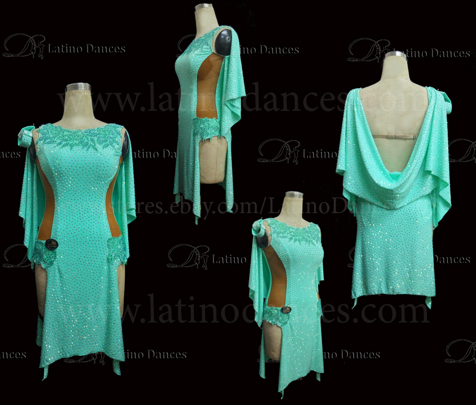 Latin  Dance Tailored Dress With High Quality stones M534