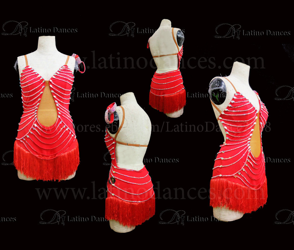 Latin  Dance Tailored Dress With High Quality stones M535