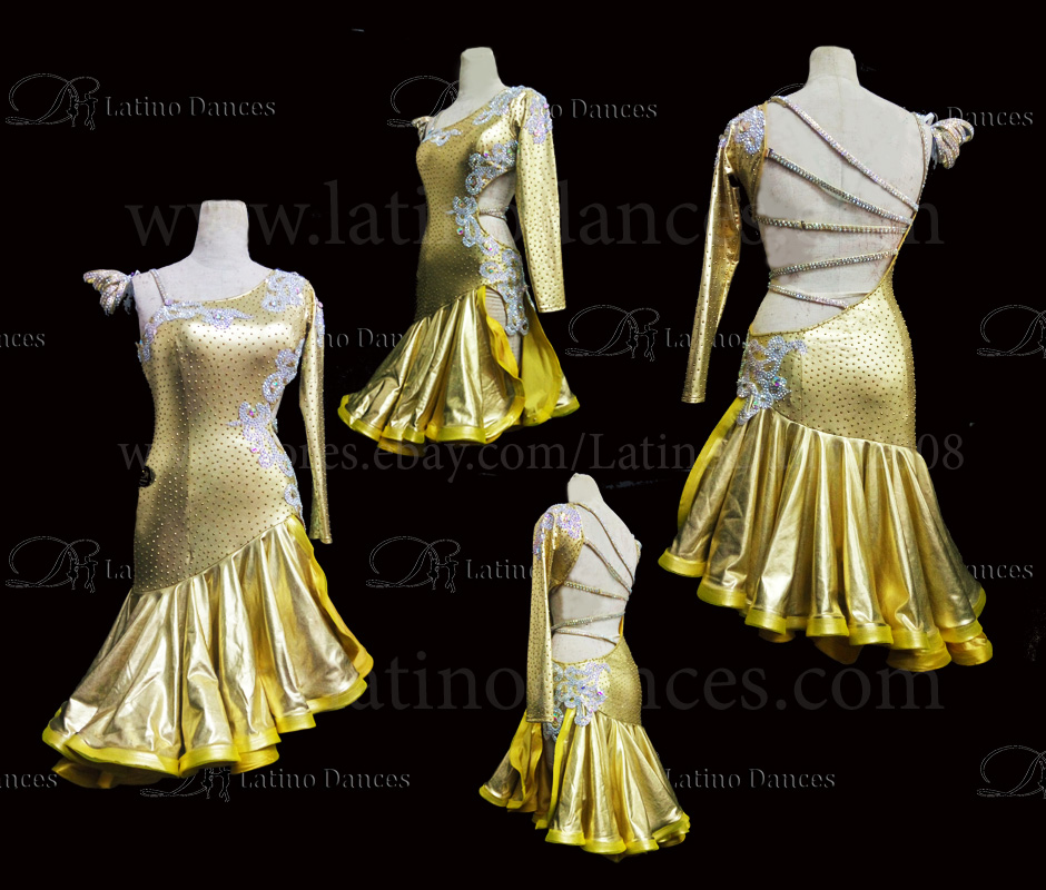 Latin  Dance Tailored Dress With High Quality stones M536