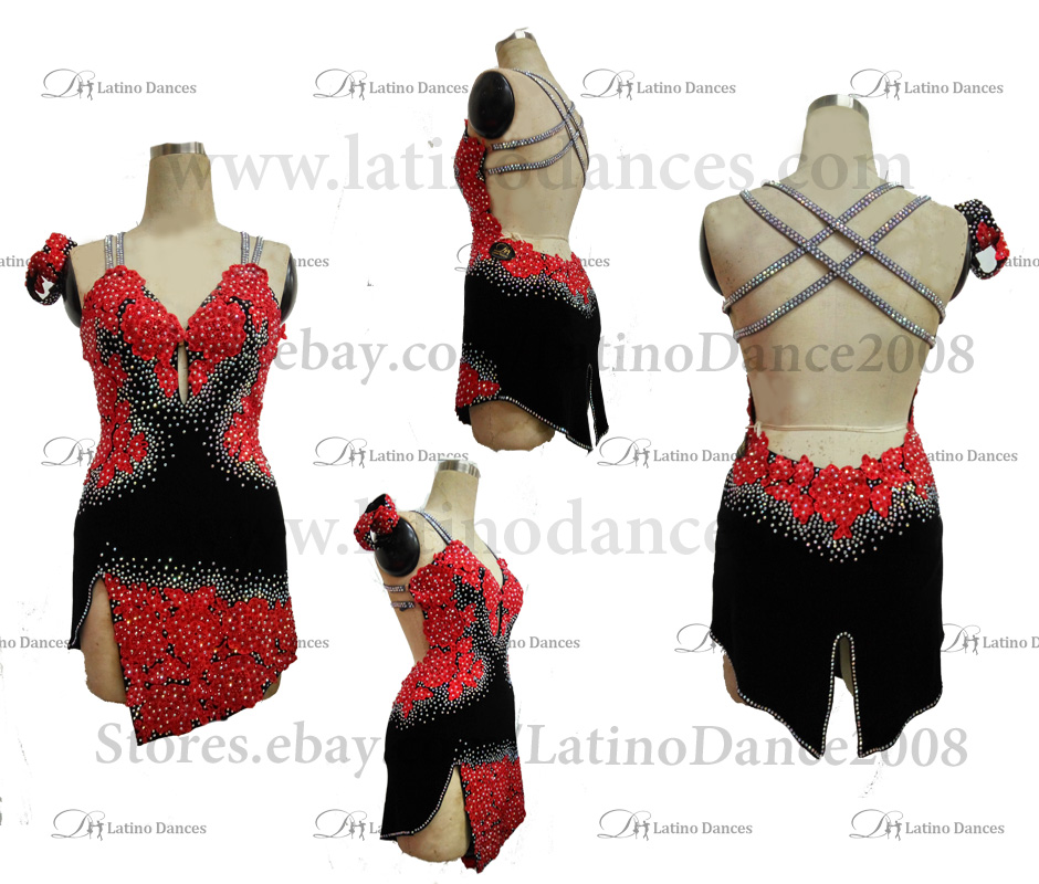 Latin  Dance Tailored Dress With High Quality stones M538