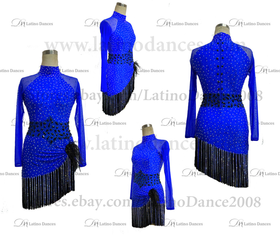 Latin  Dance Tailored Dress With High Quality stones M539