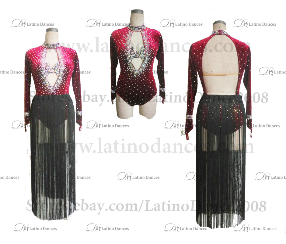 Latin  Dance Tailored Dress With High Quality stones M540