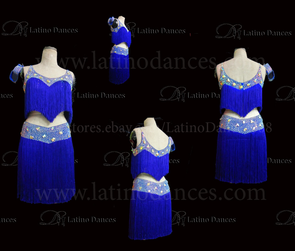 Latin  Dance Tailored Dress With High Quality stones M543