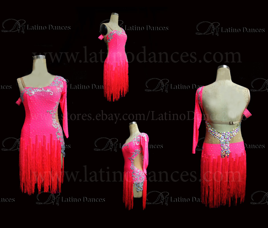 Latin  Dance Tailored Dress With High Quality stones M547