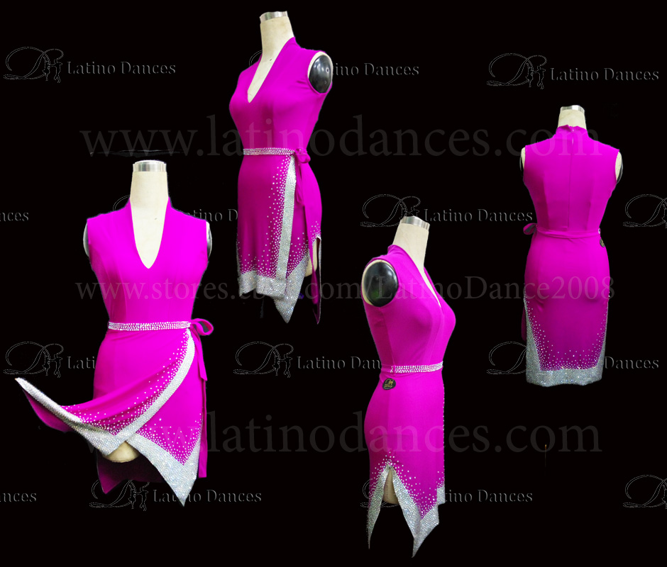 Latin  Dance Tailored Dress With High Quality stones M548