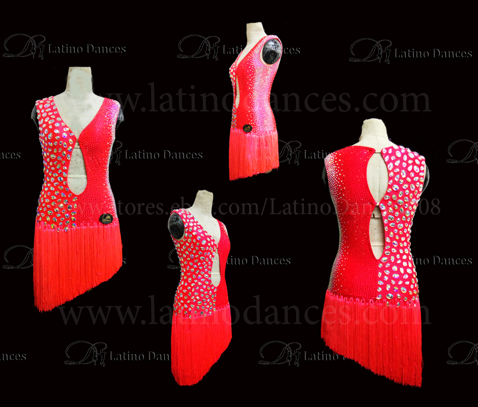 Latin  Dance Tailored Dress With High Quality stones M550