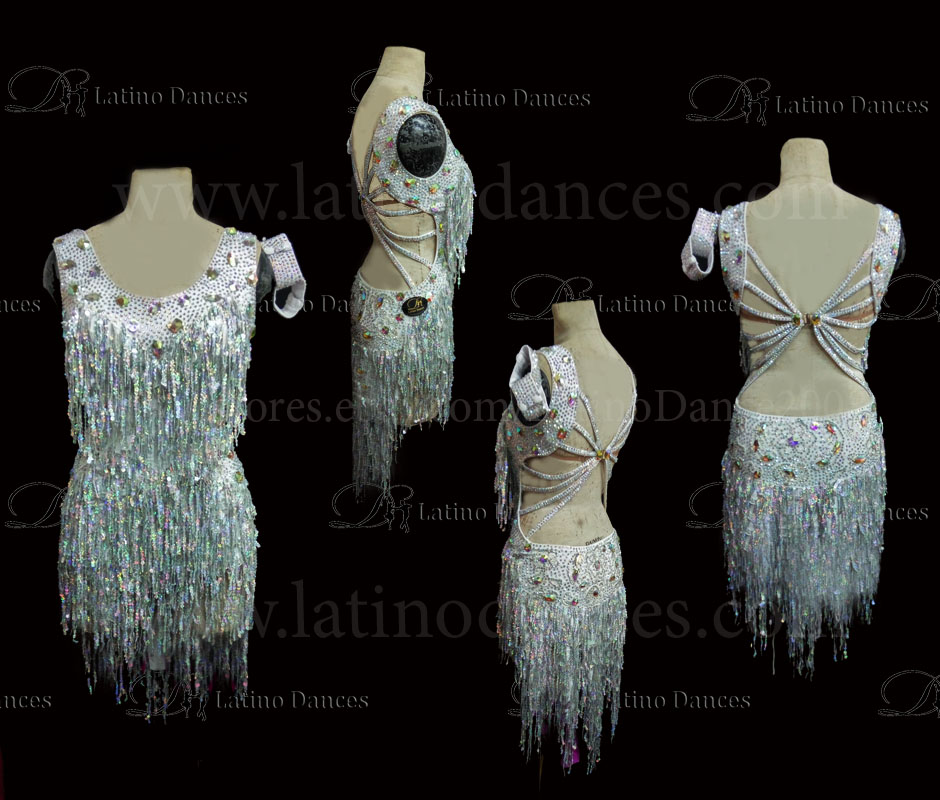 Latin  Dance Tailored Dress With High Quality stones M553