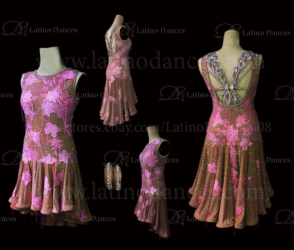 Latin  Dance Tailored Dress With High Quality stones M557