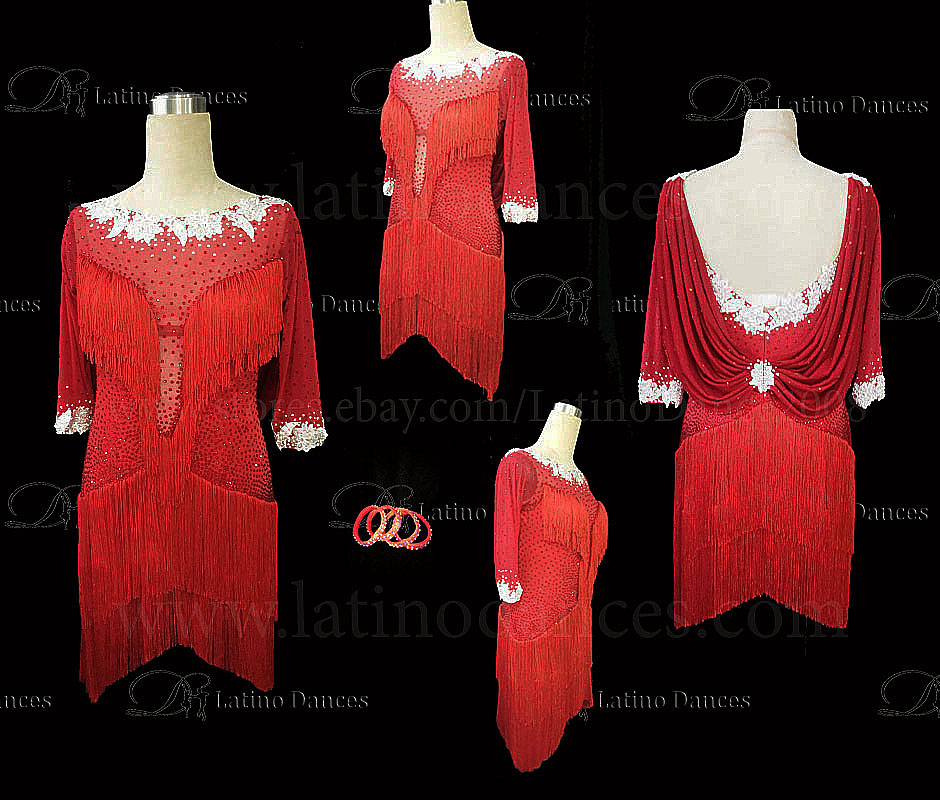 Latin  Dance Tailored Dress With High Quality stones M559