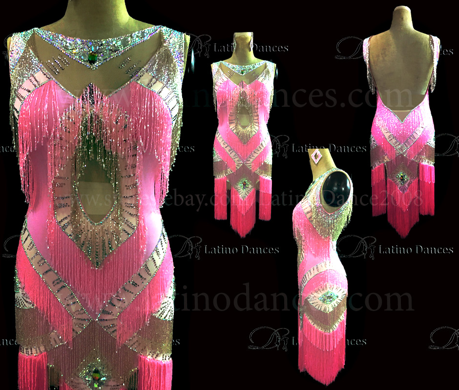 Latin  Dance Tailored Dress With High Quality stones M572
