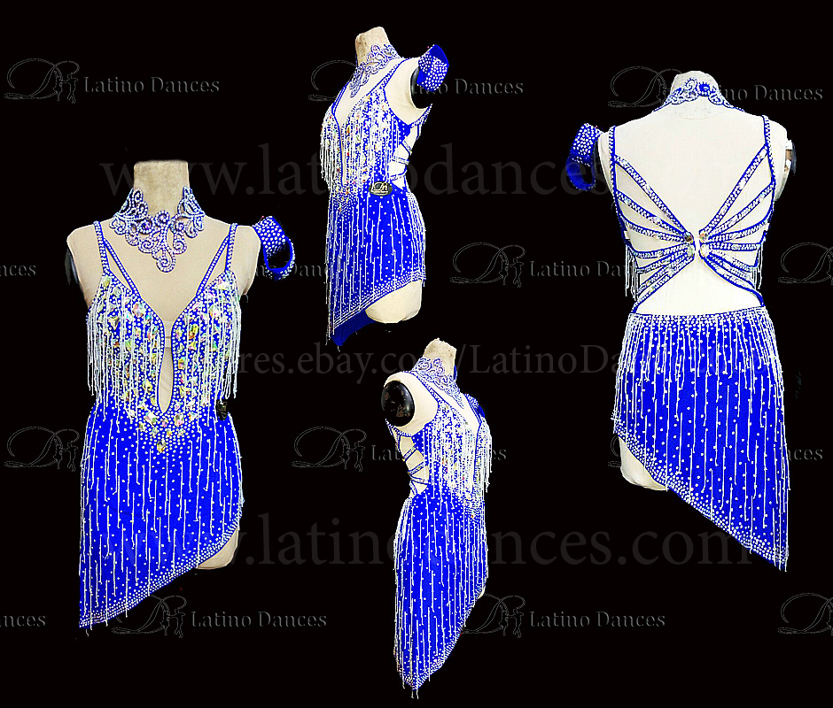 Latin  Dance Tailored Dress With High Quality stones M575