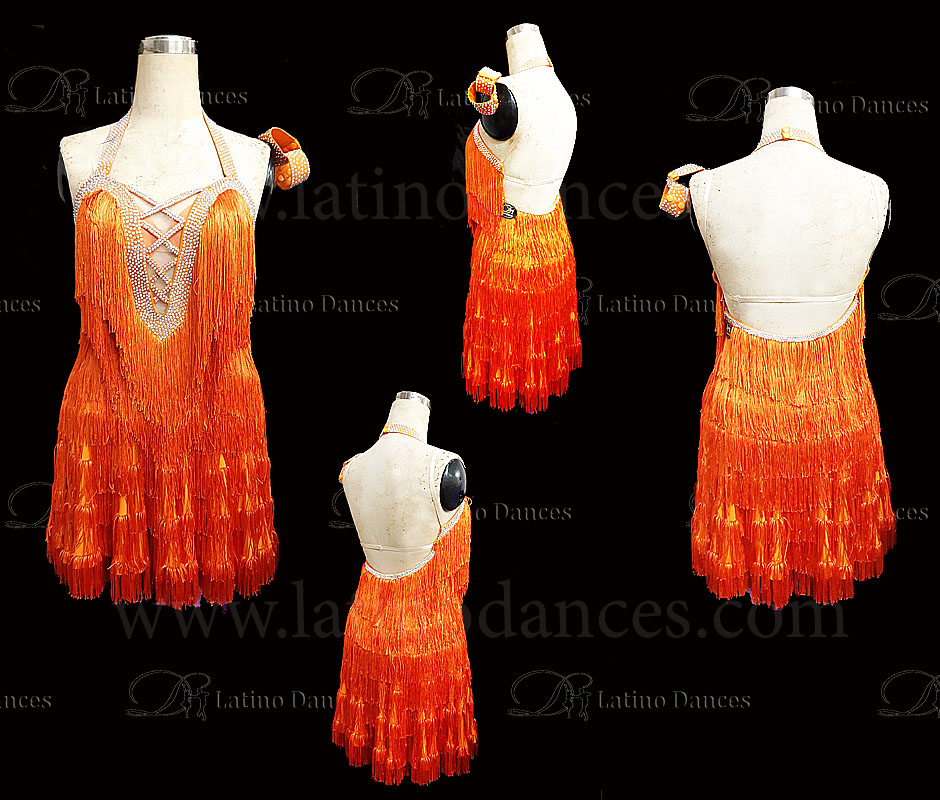 Latin  Dance Tailored Dress With High Quality stones M576B