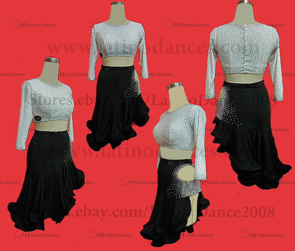 Latin  Dance Tailored Dress With High Quality stones M580