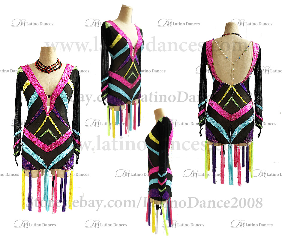 Latin  Dance Tailored Dress With High Quality stones M585