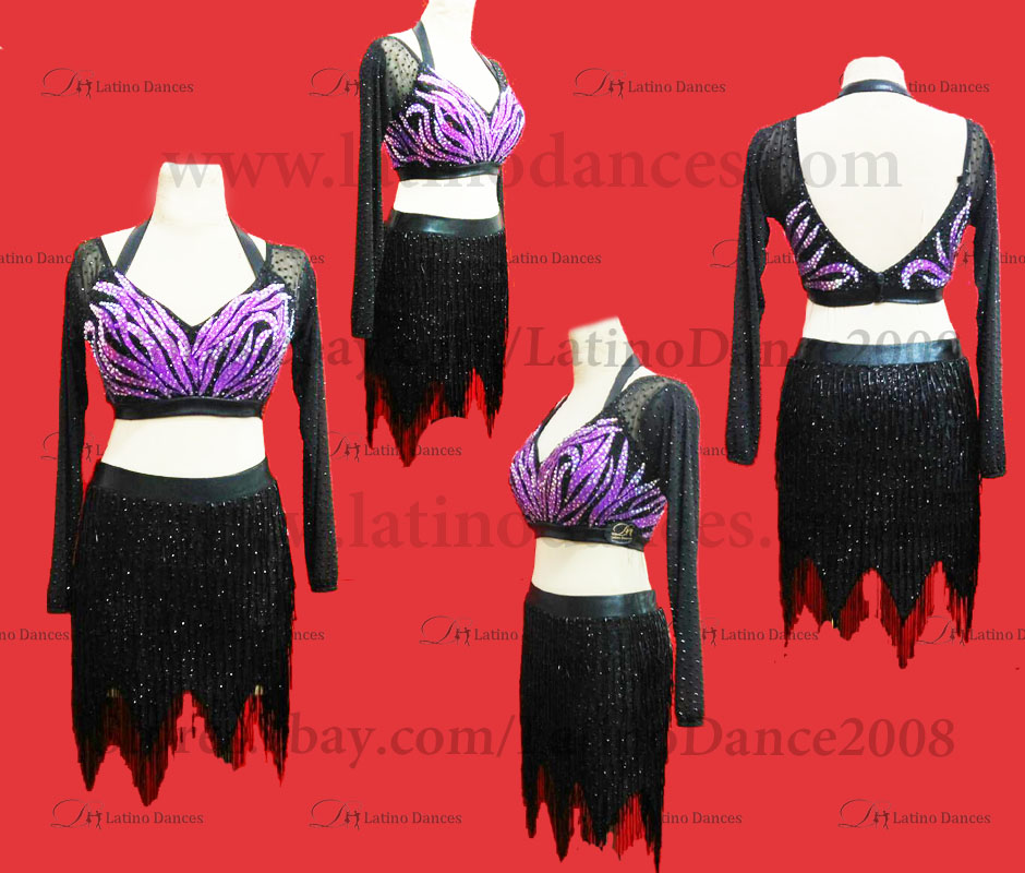 Latin  Dance Tailored Dress With High Quality stones M587