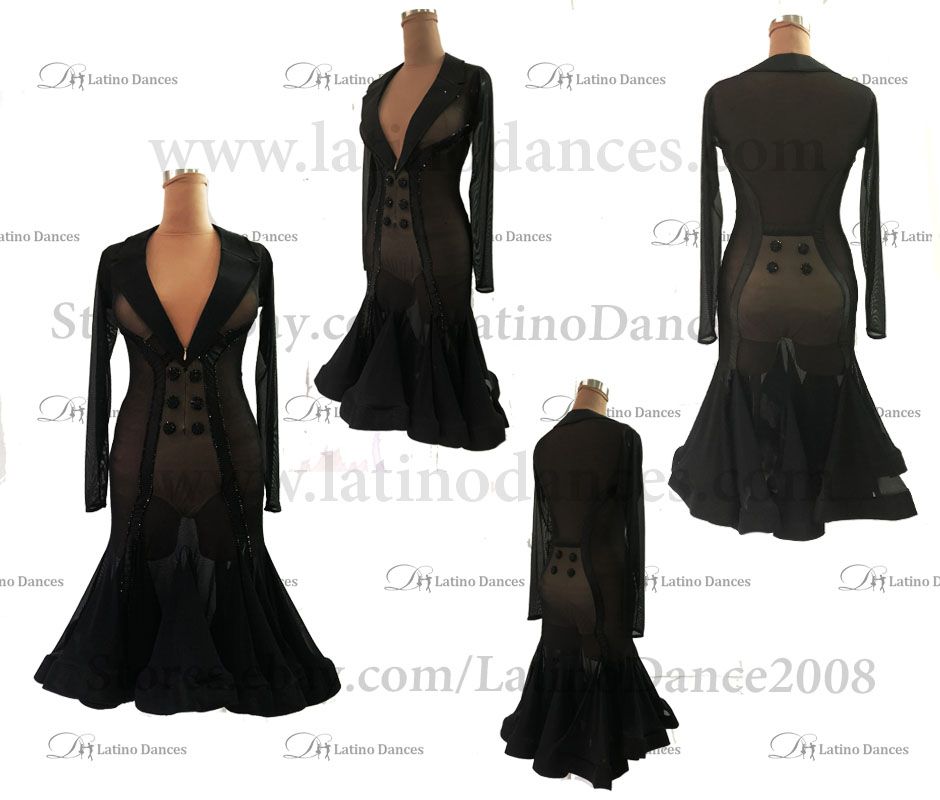 Latin  Dance Tailored Dress With High Quality stones M593