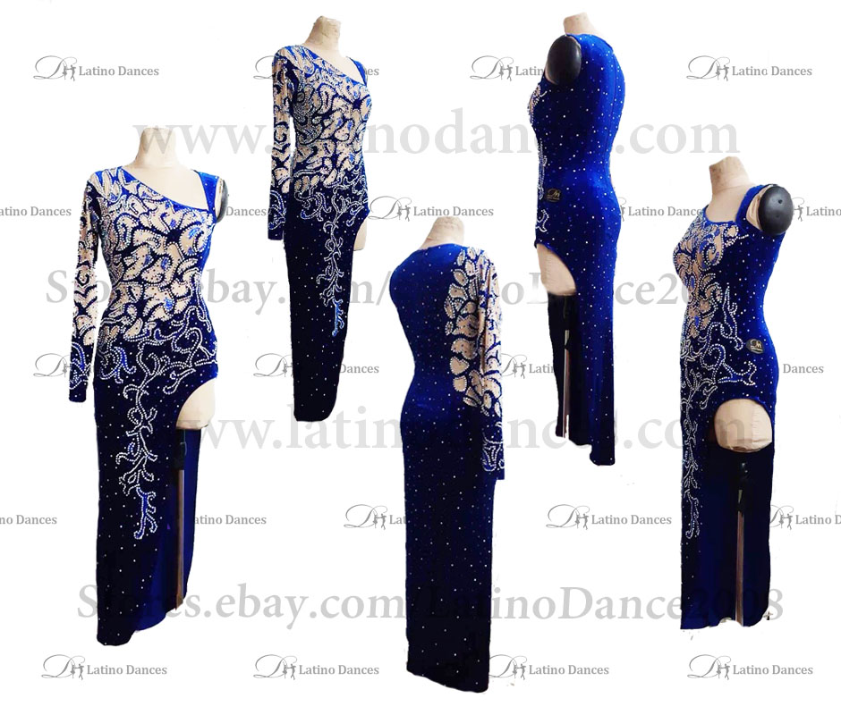 Latin  Dance Tailored Dress With High Quality stones M594