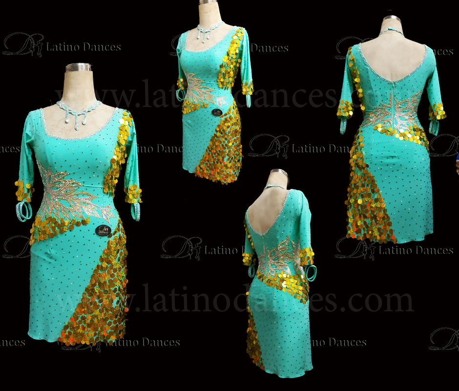 Latin  Dance Tailored Dress With High Quality stones M595