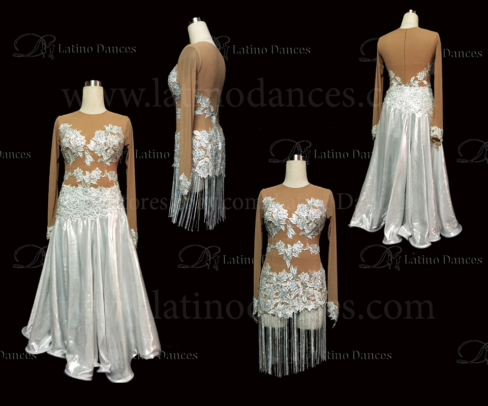 LATINO DANCE DRESS COMPETITION WITH HIGH QUALITY STONE MS186