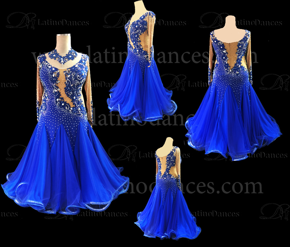 Ballroom Competition Smooth Dance Tailored Dress With High Quality stones ST213