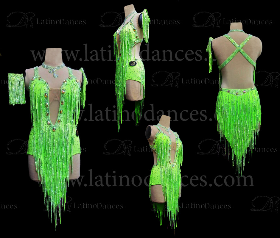 LATIN DANCE TAILORED DRESS WITH HIGH QUALITY STONES M617