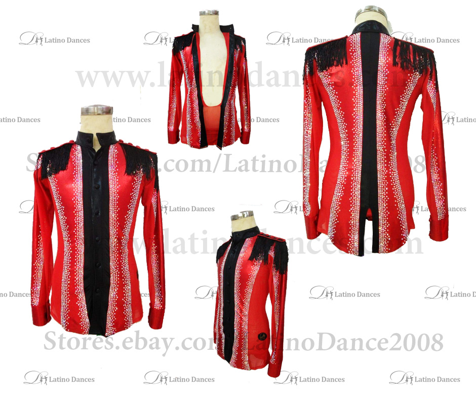 MEN'S LATIN SHIRT WITH HIGH QUALITY STONES DB210