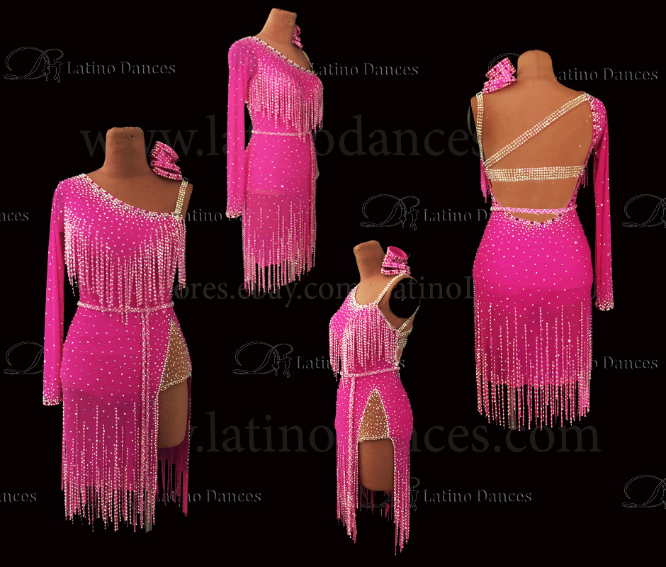 LATIN DANCE TAILORED DRESS WITH HIGH QUALITY STONES M662
