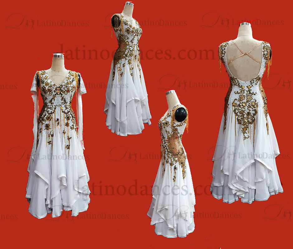 International standard ballroom smooth dance costumes ST361